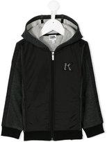Karl Lagerfeld zipped hoodie - kids - Cotton/Polyamide/Polyester - 12 yrs