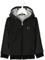Karl Lagerfeld zipped hoodie - kids - Cotton/Polyamide/Polyester - 4 yrs