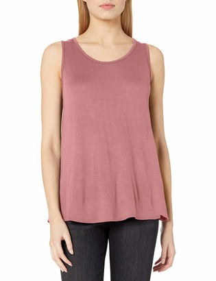 Star Vixen Women's Slvless Classic U-Neck Easy Fit Pullover Rayon/Span Knit Top
