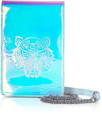 Kenzo White Preppy Tiger Embossed Phone On A Chain