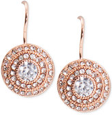 Lauren Ralph Lauren Rose Gold-Tone Multi-Circle Crystal Drop Earrings