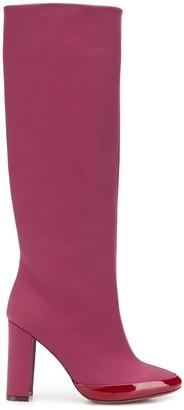 L'Autre Chose Contrast Heel Boots