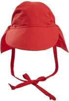 Flap Happy Original Flap Hat with Ties UPF 50+ - Red - Medium