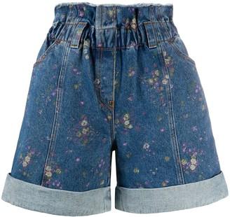 Philosophy di Lorenzo Serafini Floral-Print Denim Shorts