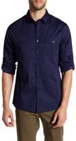 Kenneth Cole New York Long Sleeve Stretch Militia Modern Fit Shirt