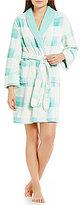 Sleep Sense Plaid Plush Robe