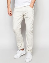G-star Jeans Arc 3d Slim Fit Stretch Overdye Twill In Oatmeal