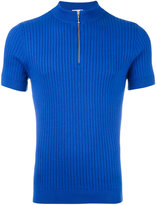 Cmmn Swdn Woody zip shortsleeved jumper - men - Cotton - XS