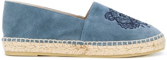 Kenzo Tiger embroidered suede espadrilles