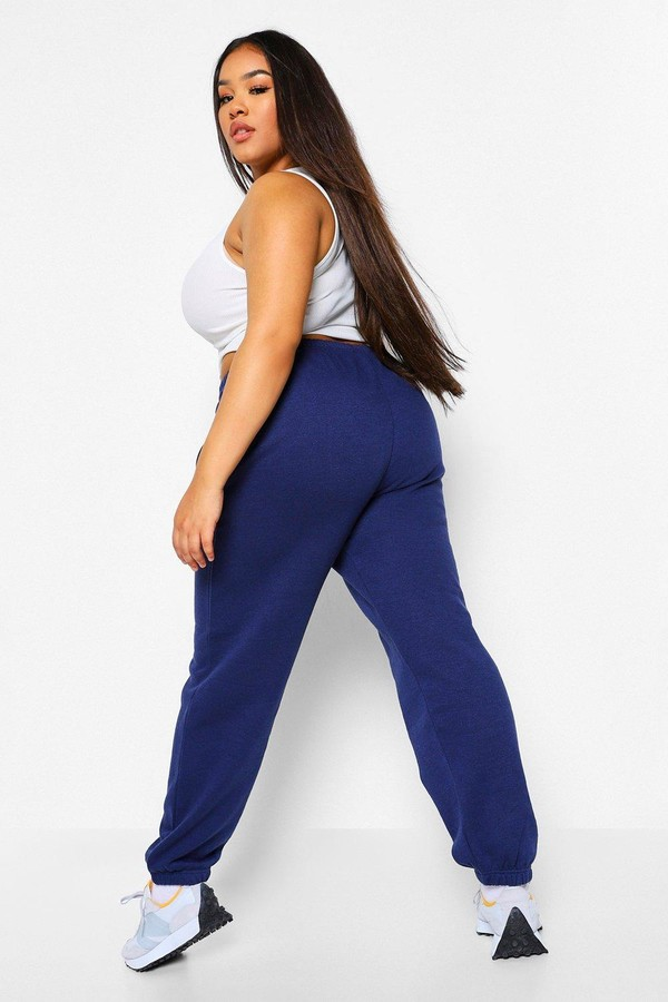 Thumbnail for your product : boohoo Plus Basic Cuffed Hem Joggers
