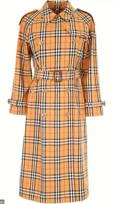 Burberry Vintage Check Belted Trench Coat