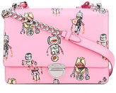 Prada robots print shoulder bag - women - Leather - One Size