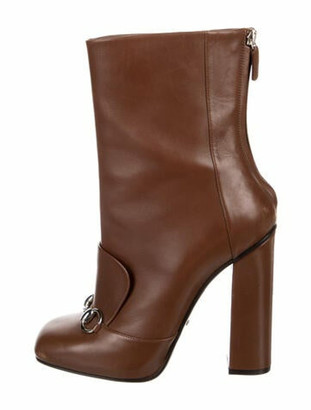 Gucci Lillian 1955 Horsebit Accent Boots Brown