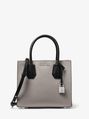 MICHAEL Michael Kors Mercer Medium Two-Tone Pebbled Leather Crossbody Bag