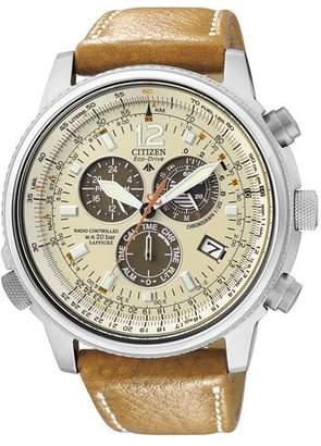 Citizen Men's Analogue Quartz Watch with Leather Strap AS4020-44B