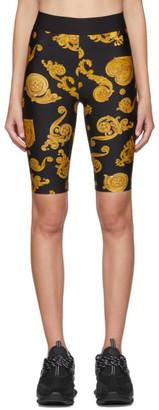 Versace Black Baroque Jewels Bike Shorts