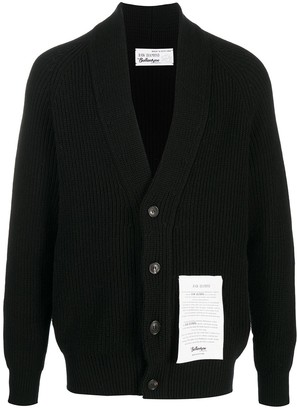 Ballantyne Logo Patch Cashmere Cardigan