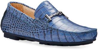 Bugatchi Roma Mock-Croc Leather Drivers