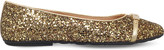 Moschino Notre Dame glitter leather ballet flats 6-8 years