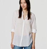 LOFT Petite Crinkle Softened Shirt