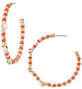 Natasha Accessories Beaded Hoop Earrings