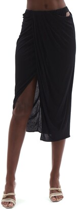 Helmut Lang Ruched Jersey Skirt