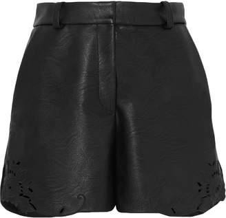 Stella McCartney Laser-cut Faux Leather Shorts