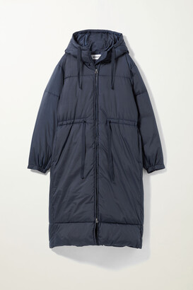 Weekday Ally Long Puffer Jacket - Black