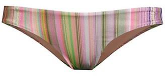 PQ Basic Ruched Striped Bikini Bottom
