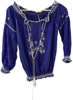 Free People Purple Cotton Tops