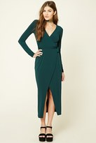 Forever 21 FOREVER 21+ Wrap Front Maxi Dress