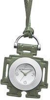 BCBGeneration Women's GL4167 Fashion Robot Pedant Analog Green Leather Watch