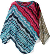 Missoni Metallic Crochet-knit Poncho - Pink