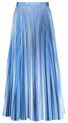 Maison Margiela Pleated Coated-crepe Midi Skirt