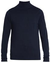 Sunspel Roll-neck Wool Sweater