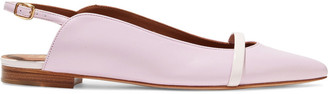 Malone Souliers Marion Leather Slingback Point-toe Flats