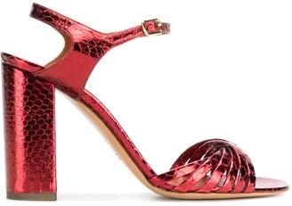 Michel Vivien Metallic Strappy Sandals