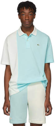 Lacoste Blue and White Golf le Fleur* Edition Colorblocked Polo