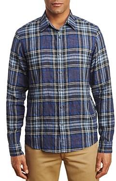 Michael Kors Linen Blend Plaid Shirt