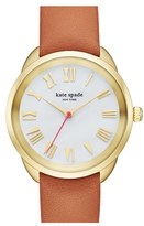 Kate Spade Women's 'Crosstown' Leather Strap Watch, 34Mm
