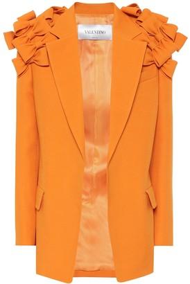 Valentino Wool and silk crepe blazer