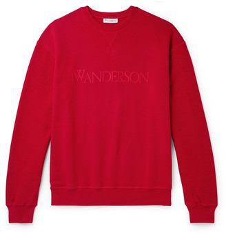 J.W.Anderson Logo-Embroidered Loopback Cotton-Jersey Sweatshirt