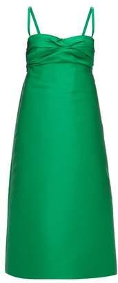 No.21 No. 21 - Gathered A Line Satin Dress - Womens - Green