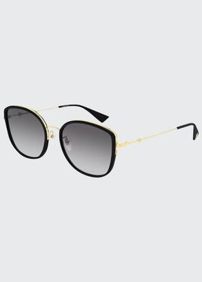 Gucci Square Metal Sunglasses