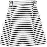 River Island Girls black stripe skater skirt