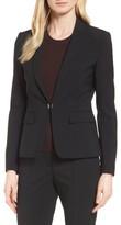 BOSS Women's Jaflink Stretch Wool Suit Jacket