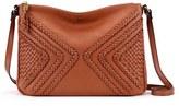 Elliott Lucca 'Medium Mari' Braided Leather Crossbody Bag - Brown