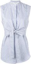 Helmut Lang sleeveless striped shirt - women - Cotton - S