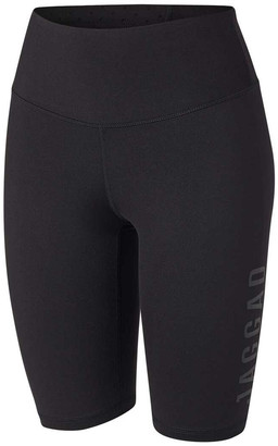 Jaggad Womens Core High Waisted Spin Shorts Black XS