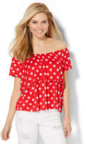 New York & Co. Off-The-Shoulder Tee - Star Print